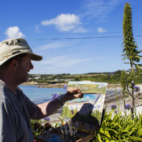 Artist taking inspiration from Scilly
