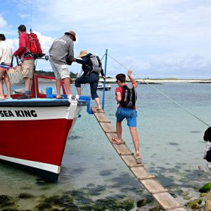 Catch a boat from island to island during your visit to Scilly - the best way to go Island Hopping.