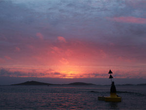 A beautiful sunset over the Scillonian sea